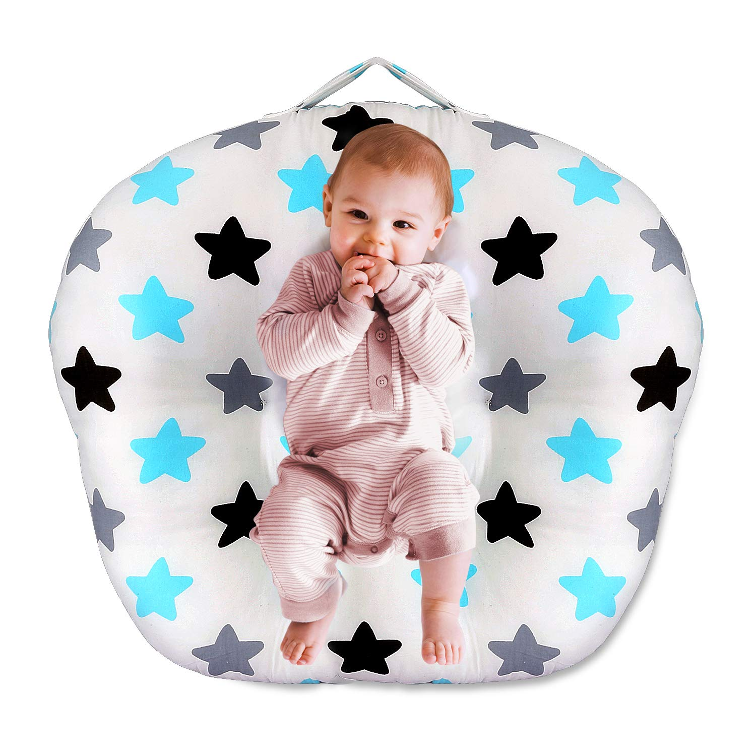 Wooce Newborn Lounger,Baby Lounger and Portable Crib, Little Stars