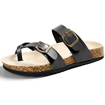 SANDALUP Soft Ring Toe Flip Flop Flat Cork Sandals for Women | Flip-Flops