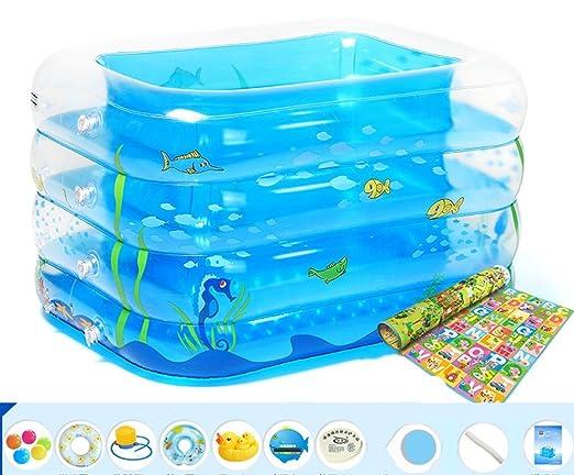LYM & bañera Plegable Bañera Inflable Piscina para bebés Elevación ...