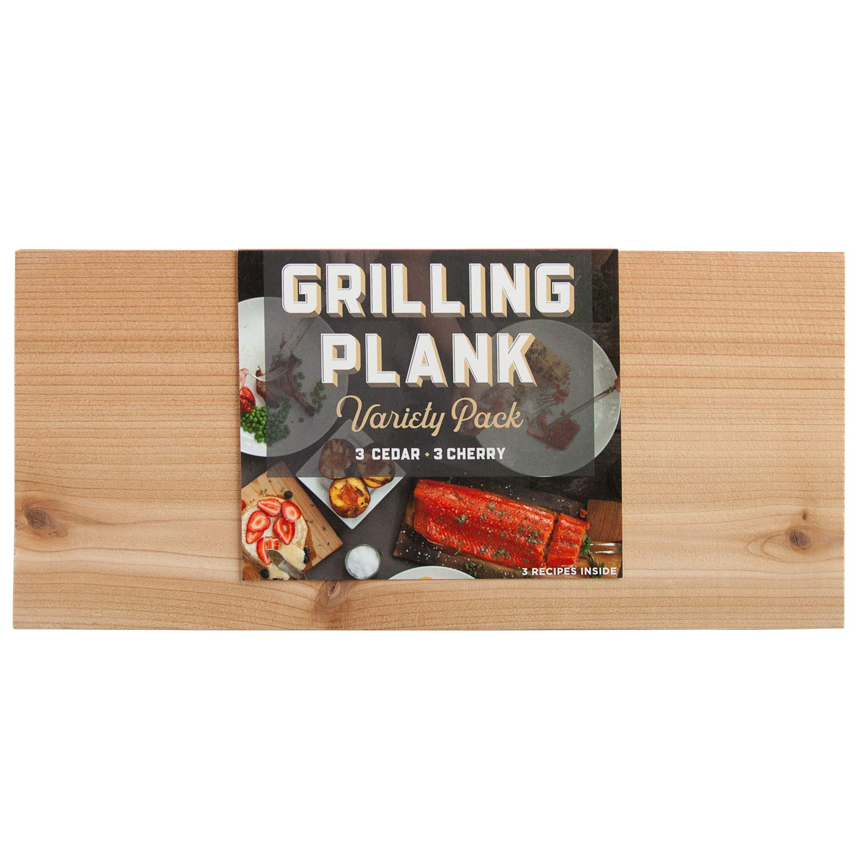 Grilling Plank Variety 6 Pack - 3 Cherry & 3 Cedar Grill Planks by Oregon Cedar Grill Co.