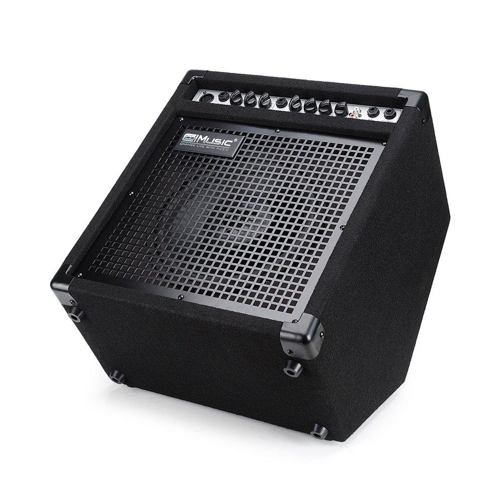 Coolmusic DK-35 - Amplificador de batería eléctrico, 35 W, altavoz de estación de trabajo y amplificador de guitarra acústica