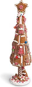 Gingerbread Christmas Tree, Dining Table Centerpiece (15 Inches)