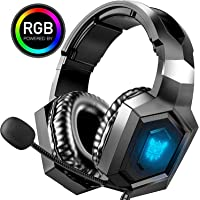 ONIKUMA Gaming Hedase PS4 Games Headset Xbox One Headset with Noise Canceling Mic, Stereo Surround Sound, RGB Light…