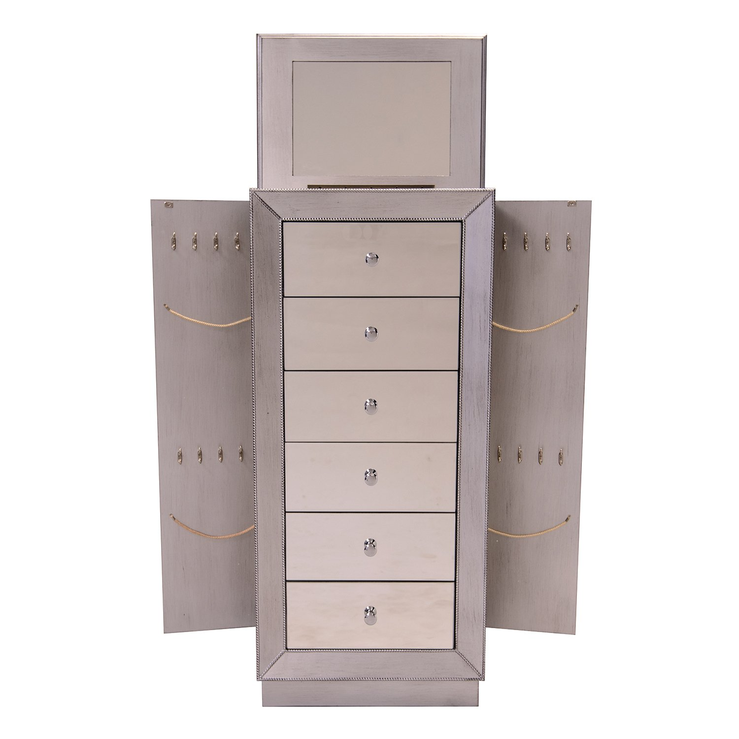 Hives and Honey Mia Jewelry Armoire, Metallic Silver by Hives and Honey (Image #3)