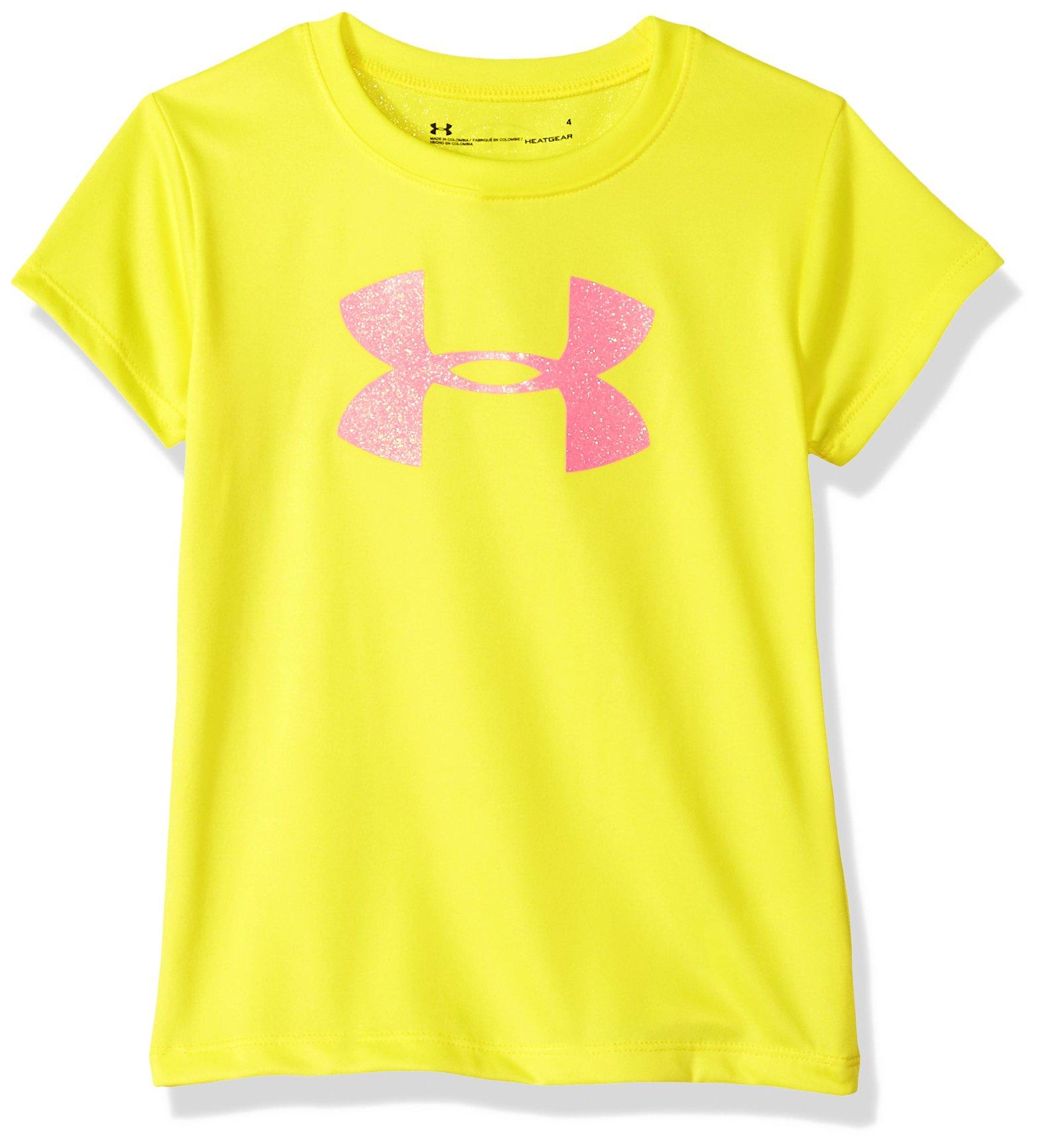 Under Armour Girls' Big Logo T-Shirt, Tokyo Lemon, 18M