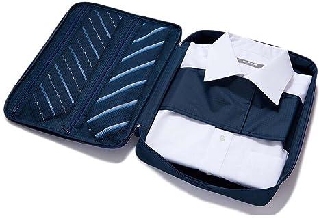 Camisa Bolsa De Corbata Ropa Viaje Sin Arrugas Prueba De Agua Ordenada Maleta Caja De Almacenamiento (Azul)