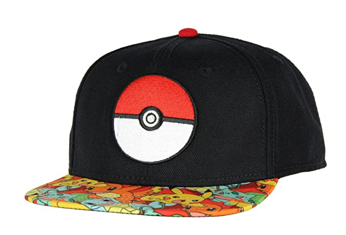 8790a933307 Amazon.com  Bioworld Pokemon Pokeball Youth Snapback Hat Cap  Clothing