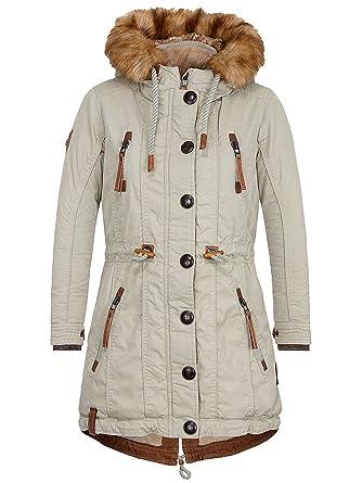 Naketano damen jacke winter parka mit kapuze