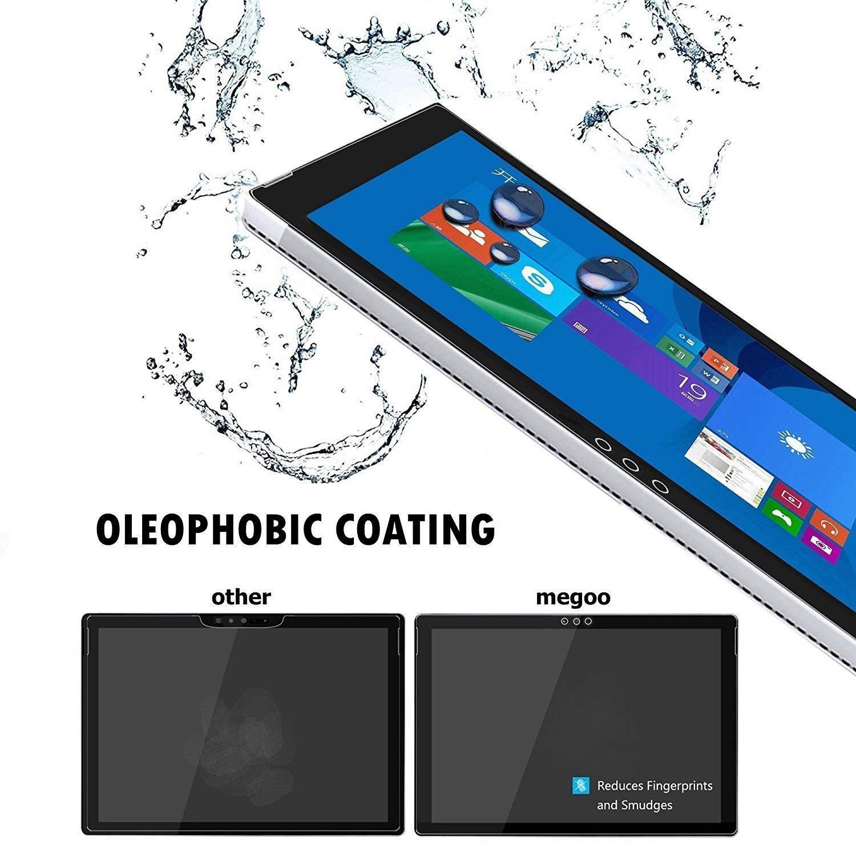 Surface Pro 3 Screenschutzfolie Megoo HD Hartglas Screenschutzfolie mit lebenslanger Ersatzgarantie glattes Touching einfache Installation,Anti-Kratzer