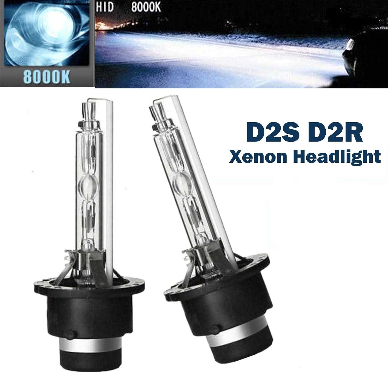 D2S D2R HID Bombilla de xenón de repuesto 8000K azul hielo 12V 35W Faro de conducción de automoción DRL OEM 85122 85123 66040 53500 - 2 unidades