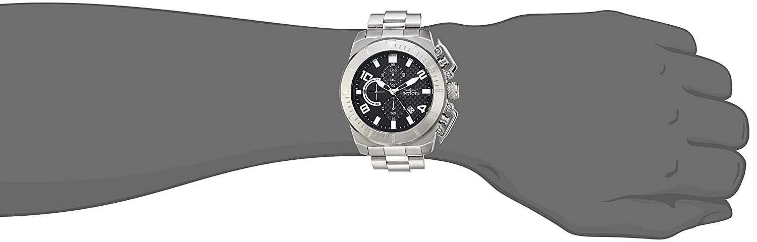 Amazon.com: Invicta Men's 'Pro Diver' Quartz Stainless Steel Casual Watch,  Color:Silver-Toned (Model: 23400): Watches