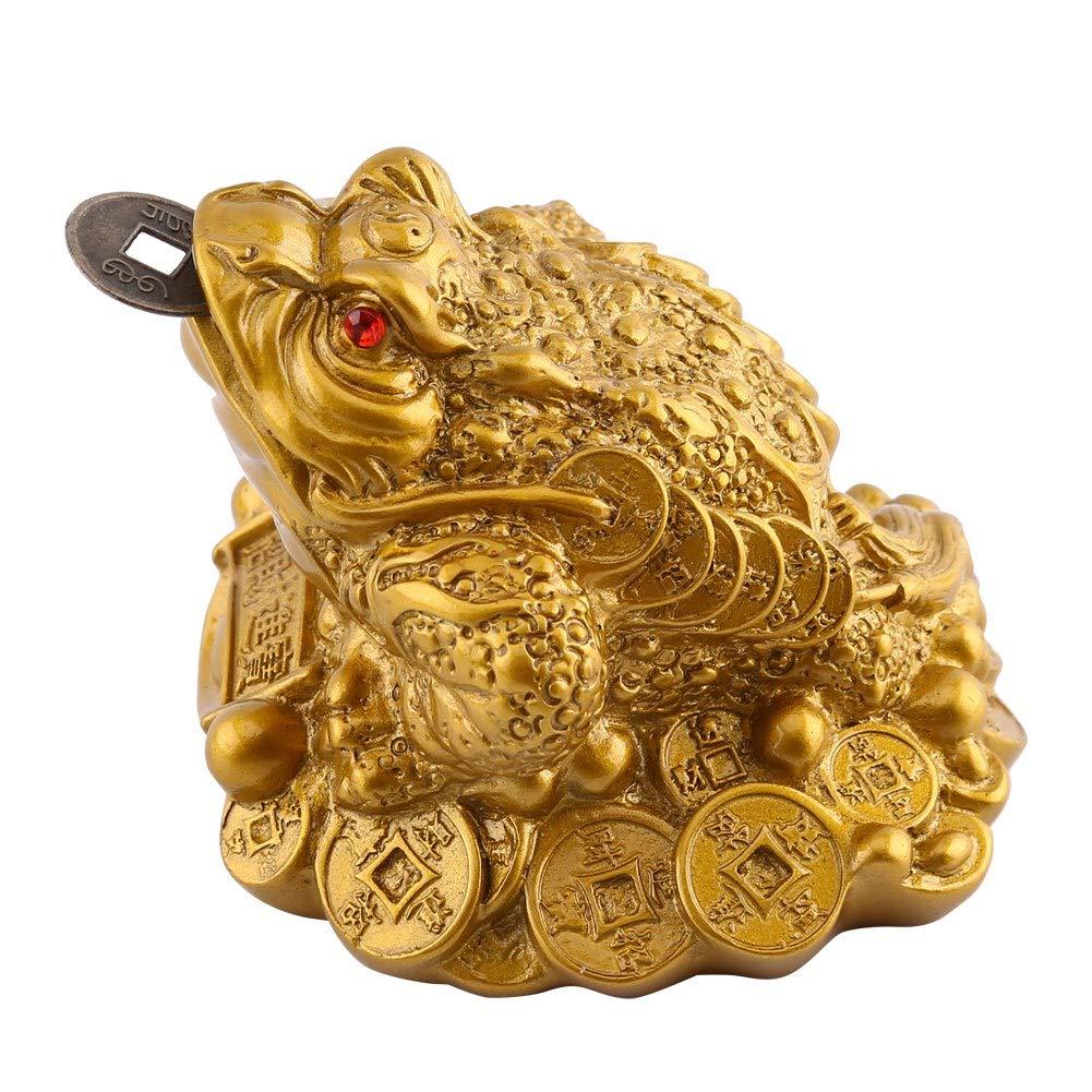 6,5 X 6 X 5 Cm FTVOGUE Dinero Rana Feng Shui Chino Riqueza Afortunada Moneda Sapo Decoraci/ón de la Oficina En Casa Buen Regalo Afortunado Riqueza