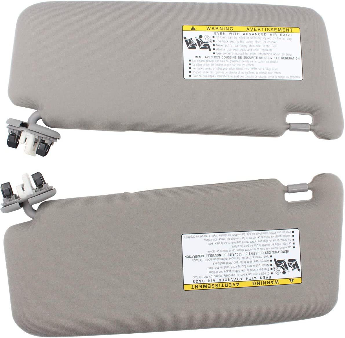 Visors Automotive NewYall Set of 2 Front Left Driver and Right ...