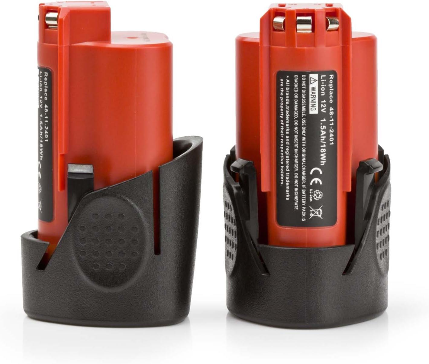 2x 12V Li-ion Battery For Milwaukee 48-11-2420 M12 48-11-2402 48-11-2401 M12B WM