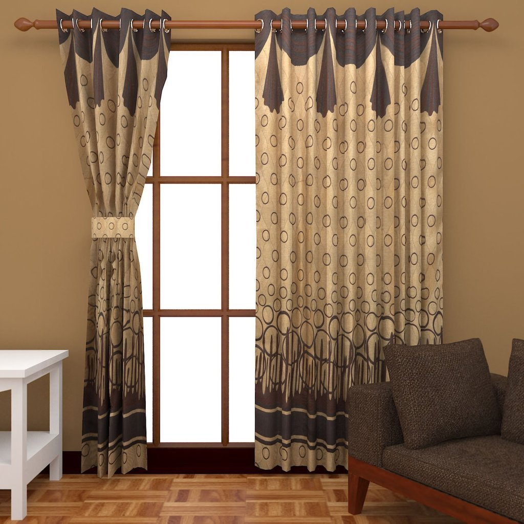 Charmant Buy Super India Jacquard 2 Piece Cotton Blend Door Curtain Set   7ft, Gold  Online At Low Prices In India   Amazon.in