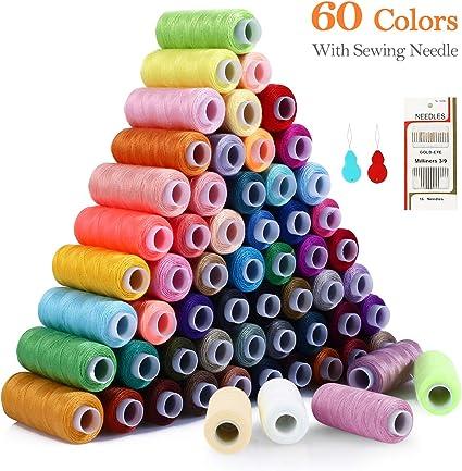Kit de Costura de Bobinas de 60 Hilos de Colores