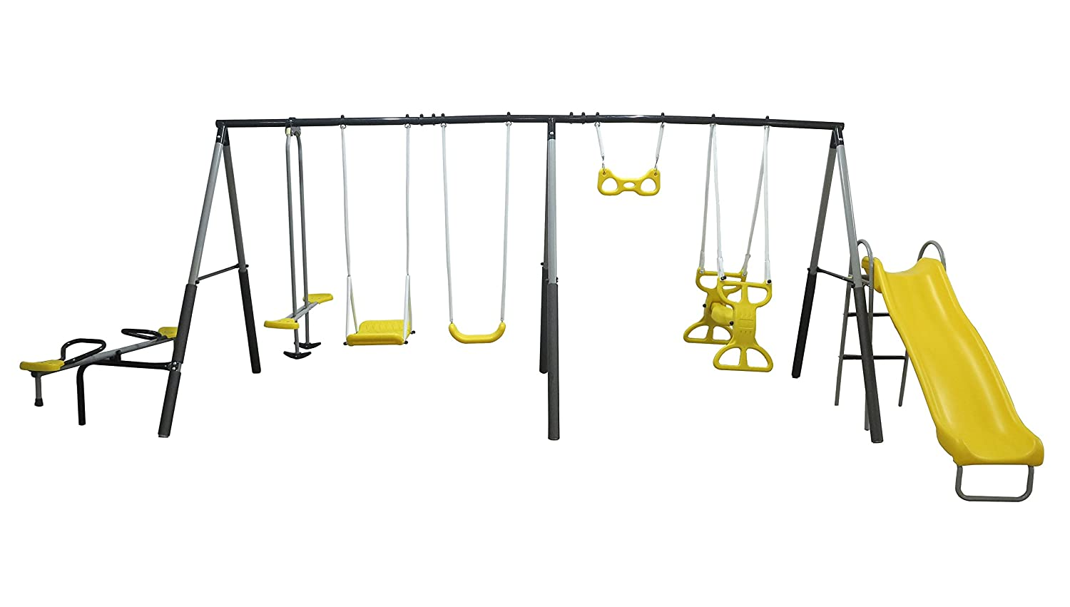 Amazon Com Xdp Recreation Rising Sun Playground Swing Set Sports