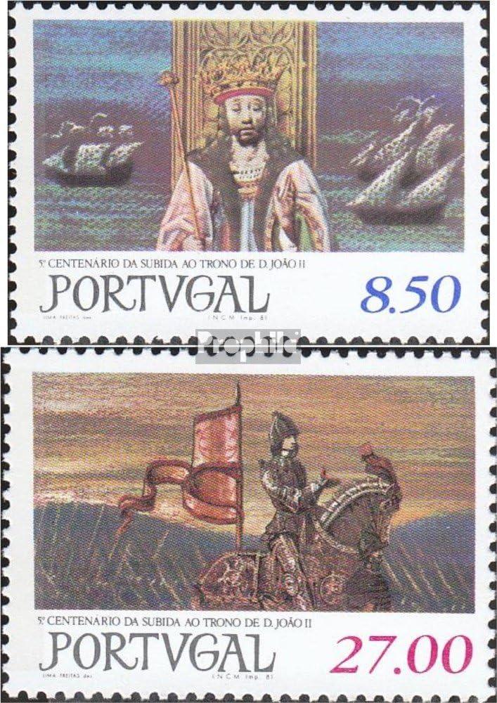 Prophila Collection Portugal Michel.-No..: 1537-1538 (Completa.edición.) 1981 Trono Rey Joao II. (Sellos para los coleccionistas) Marinero: Amazon.es: Juguetes y juegos