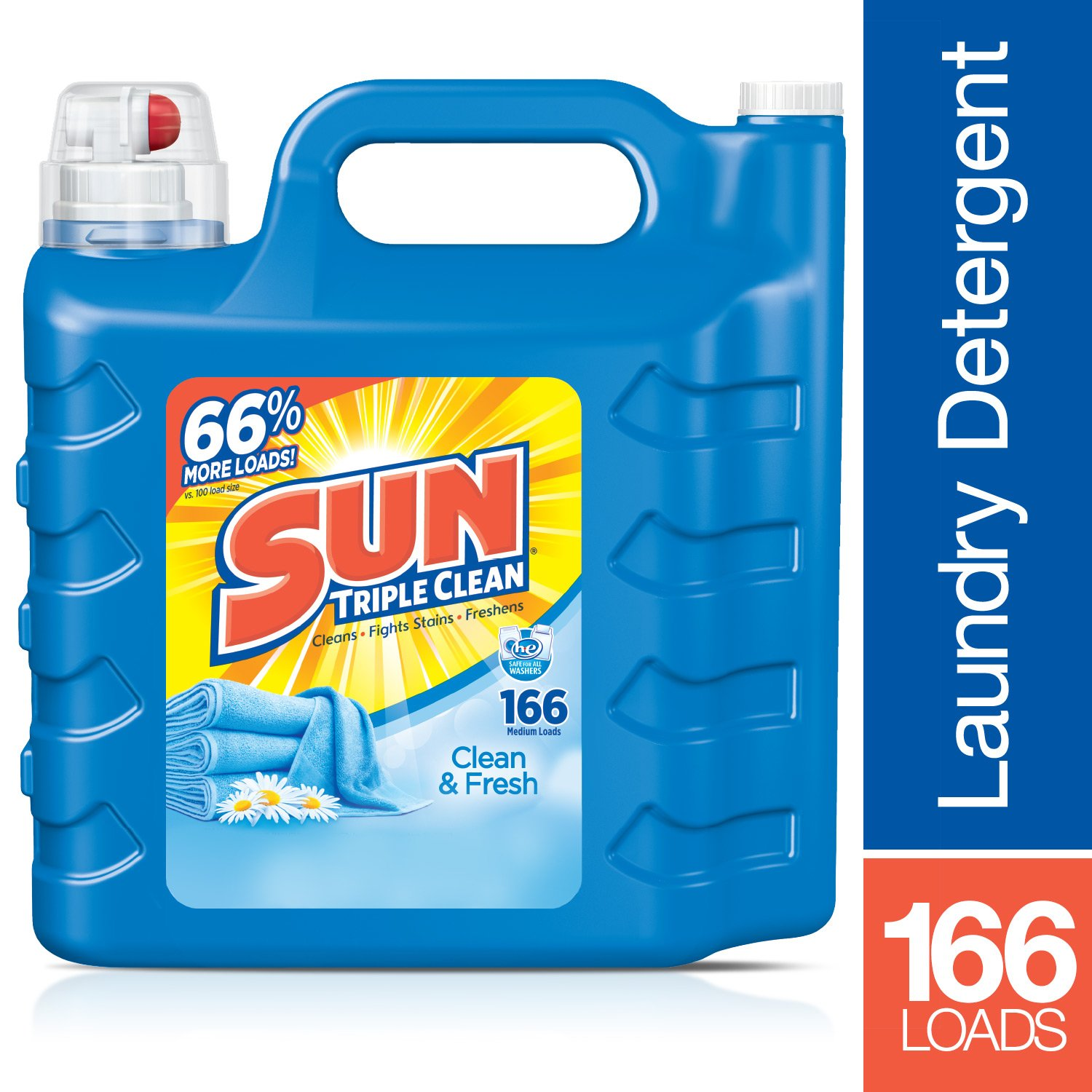 Amazon.com : Sun Ultra Liquid Laundry Detergent, Clean and Fresh, 250 Ounces, 166 Loads : Grocery & Gourmet Food