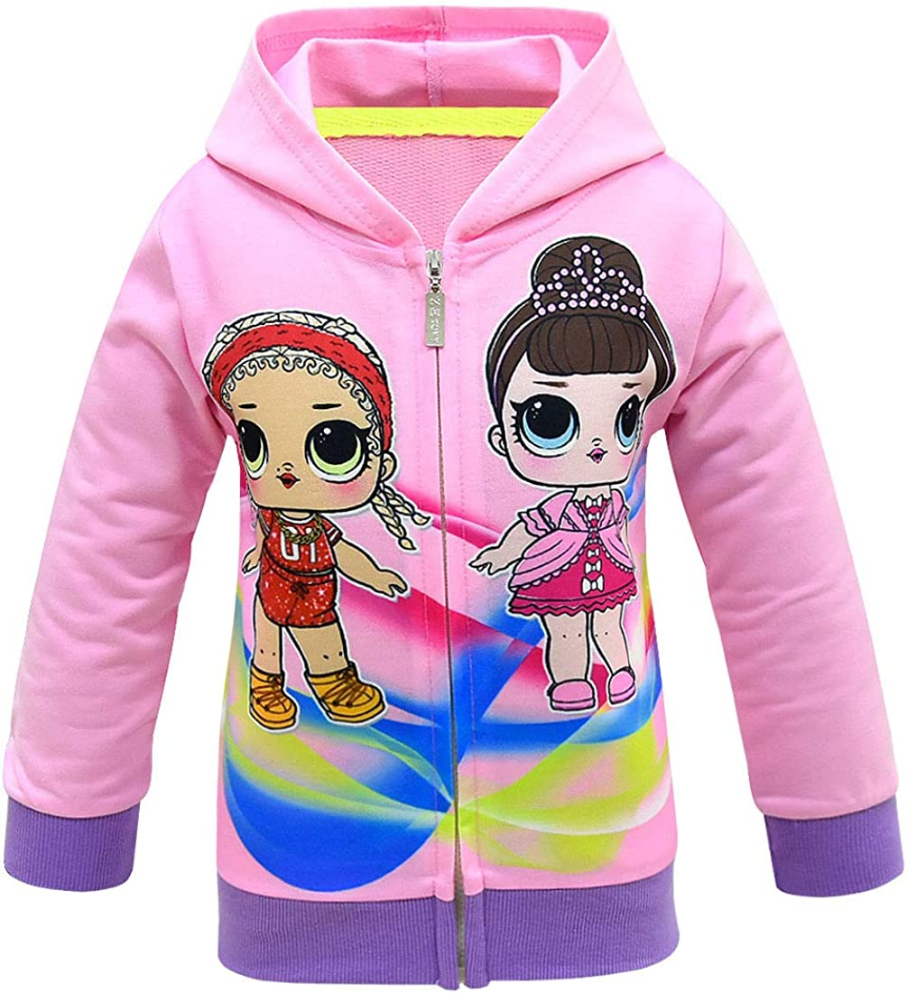 Baby Girls Contrast Color Jackets for Kids Spring Autmn Outwear Hoodies