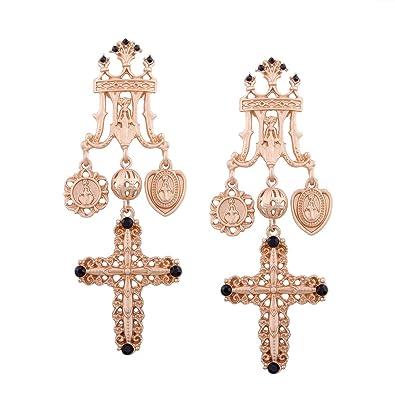 Kreuz Ohrringe Religiöse Element Ohrringe Jungfrau Maria Ohrstecker