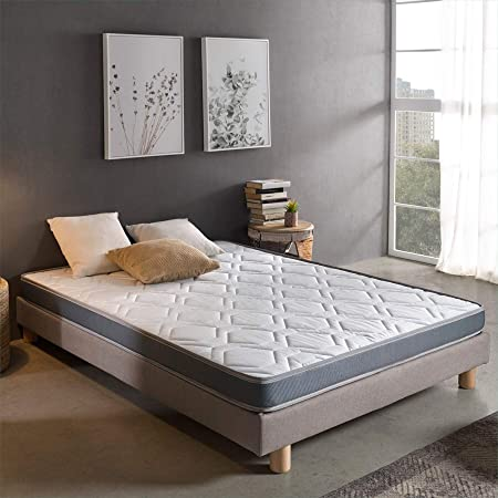 Dreaming Kamahaus Colchón Damas | Reversible | Fibras Hipoalerénicas y Soft Foam | Transpirable | ±12 cm altura | 120x190 cm