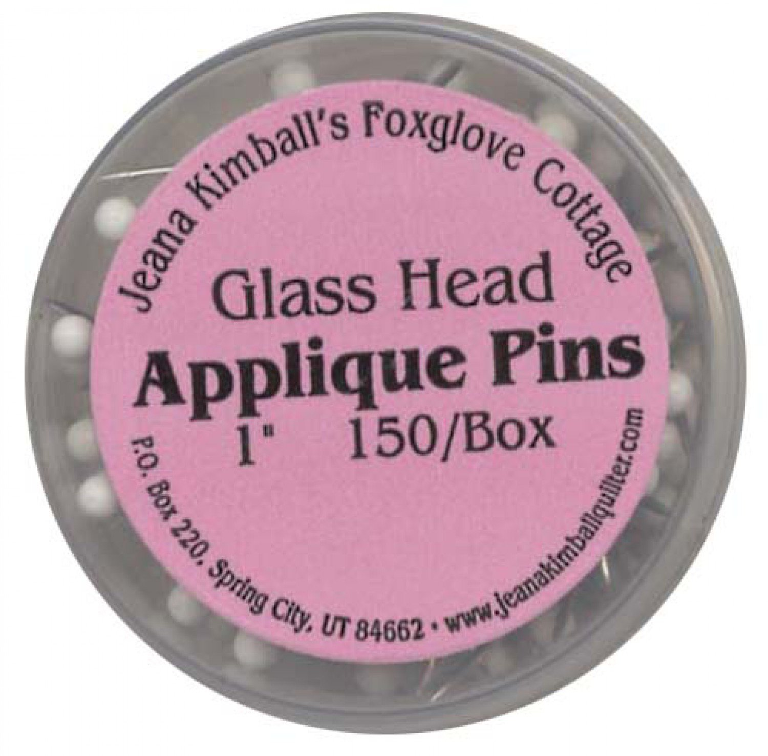 Jeanna Kimball's Foxglove Cottage 150 Glass-Head Applique Pins 1
