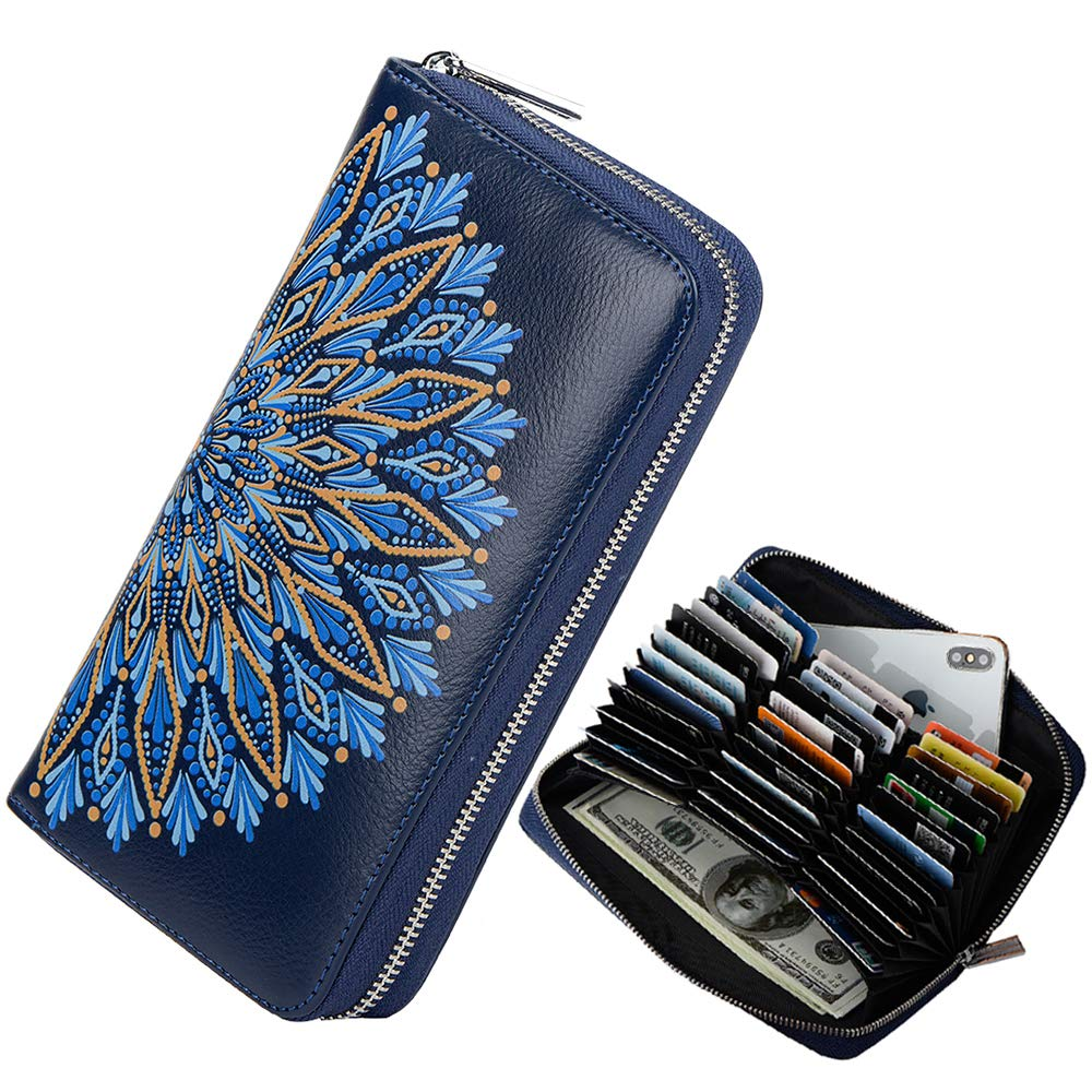 Credit Card Wallet Women RFID Blocking Card Case Wallet Leather Credit Card Holder