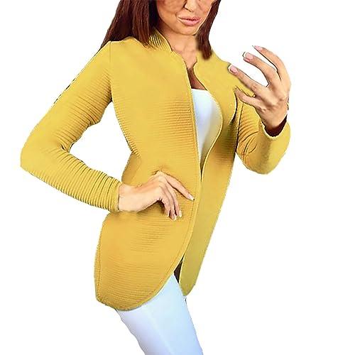 Juesheng – Abrigo – Parka – para mujer amarillo Large
