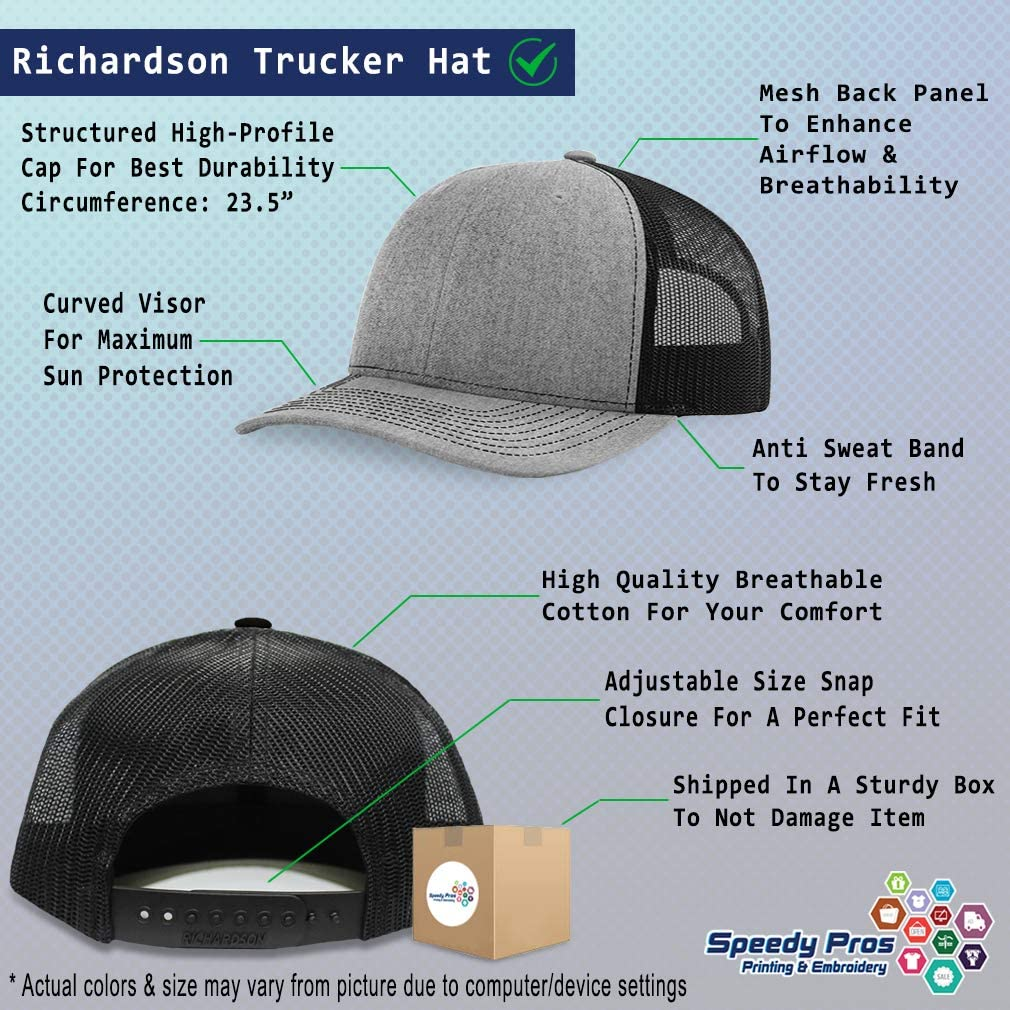 Custom Richardson Trucker Hat Religious Cross B Embroidery Design Polyester