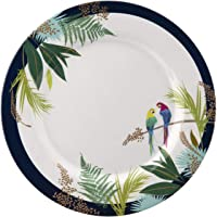 Sara Miller London for Portmeirion Parrot Collection 11 Inch Melamine Dinner Plates - Set of 4