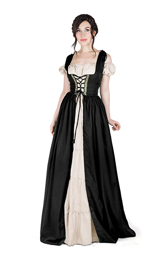 sc 1 st  Amazon.com & Amazon.com: Boho Set Medieval Irish Costume Chemise Over Dress: Clothing