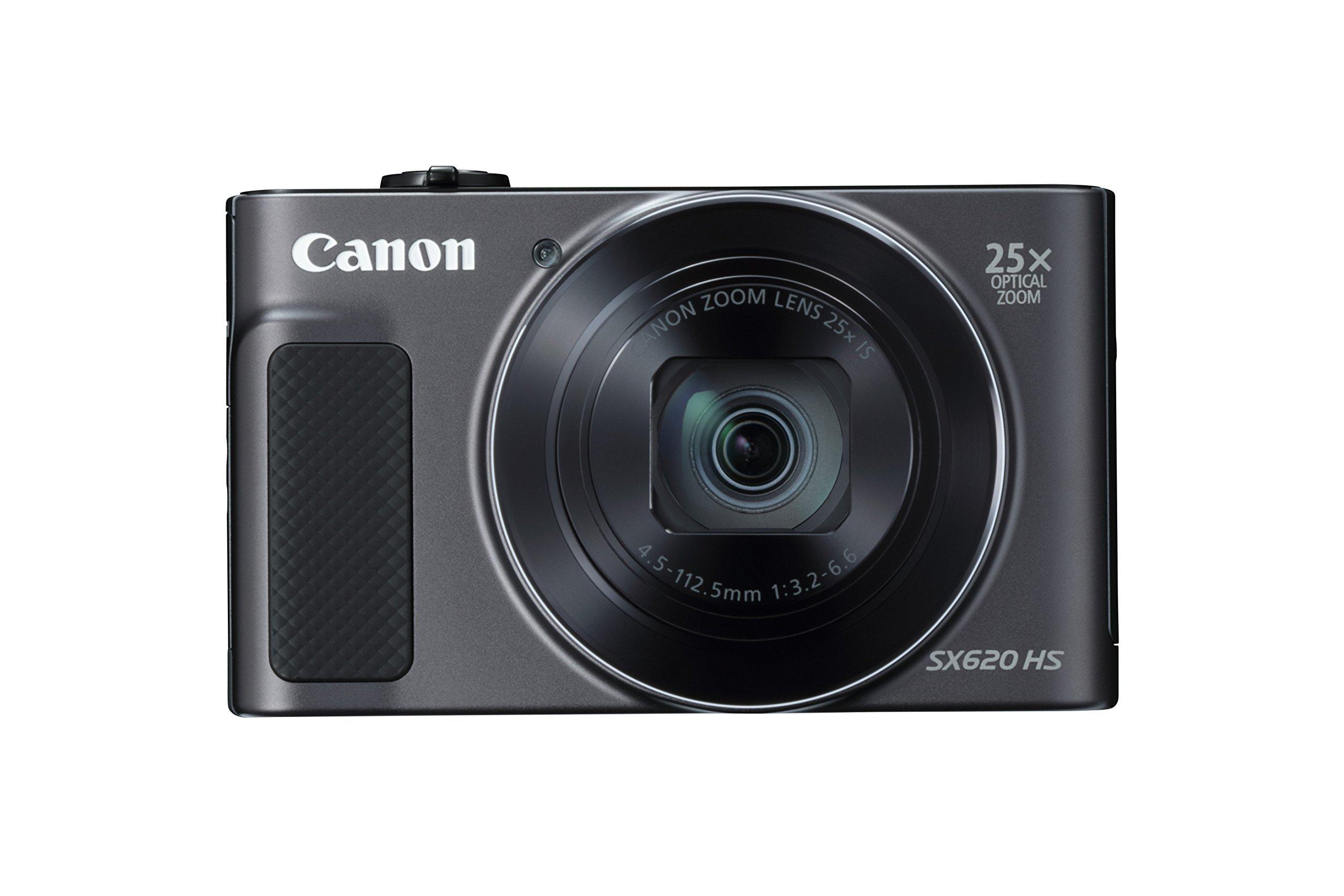 Canon PowerShot SX620 Digital Camera w/25x Optical Zoom - Wi-Fi & NFC Enabled (Black) (Renewed)