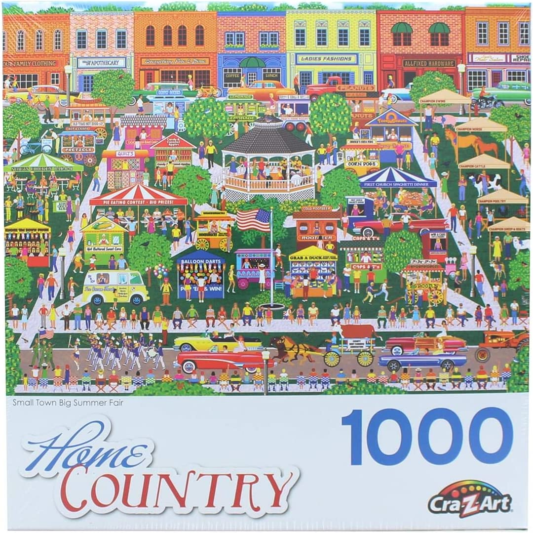 Small Town Big Summer Fair 1000 Piece Collector Puzzle by Artist: Mark Frost