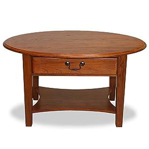 Leick Oval Coffee Table - Medium Oak