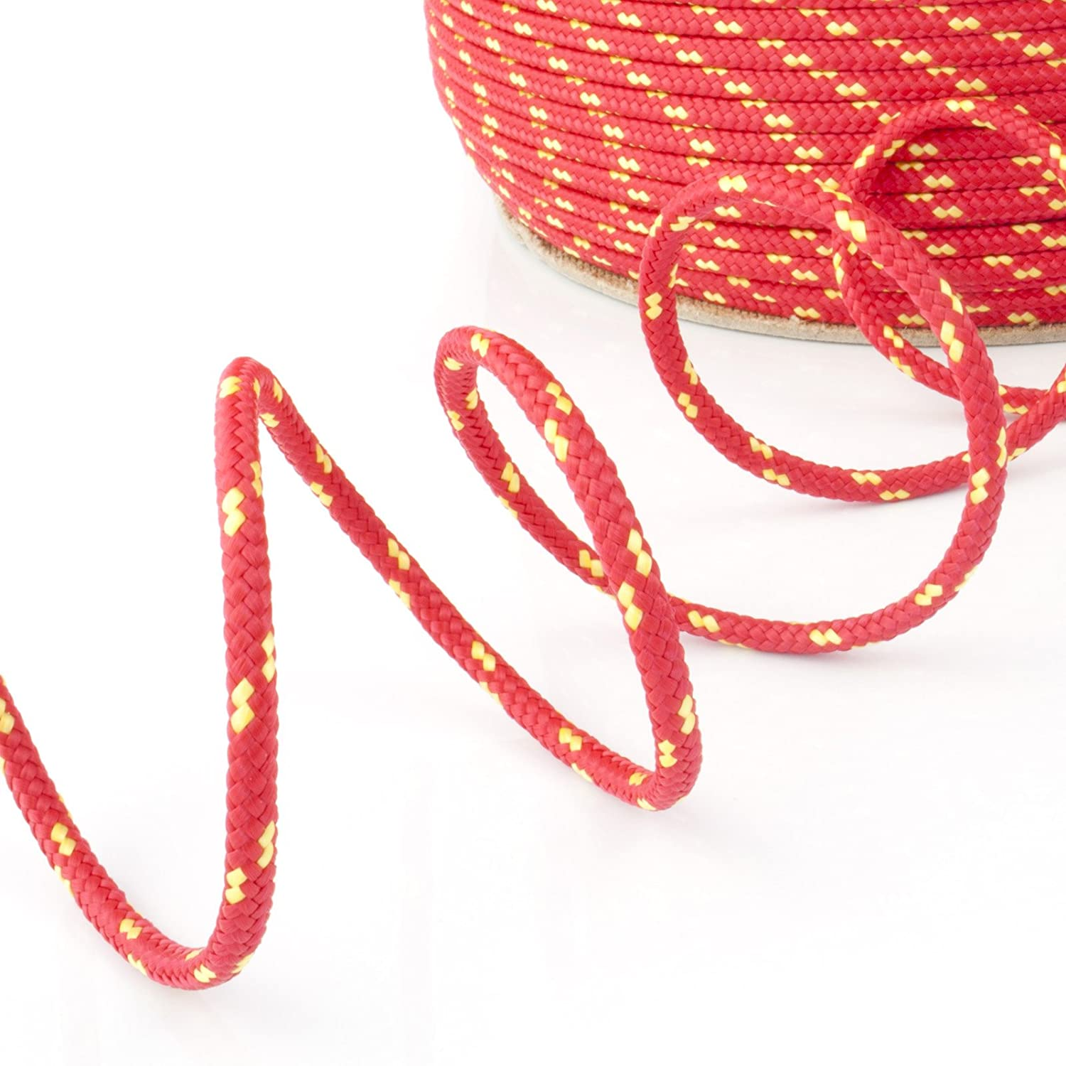 100m red polypropylene rope poly cord 20mm