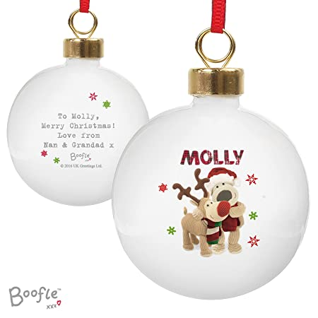 Boofle Christmas Reindeer Bauble Personalised Christmas Decoration