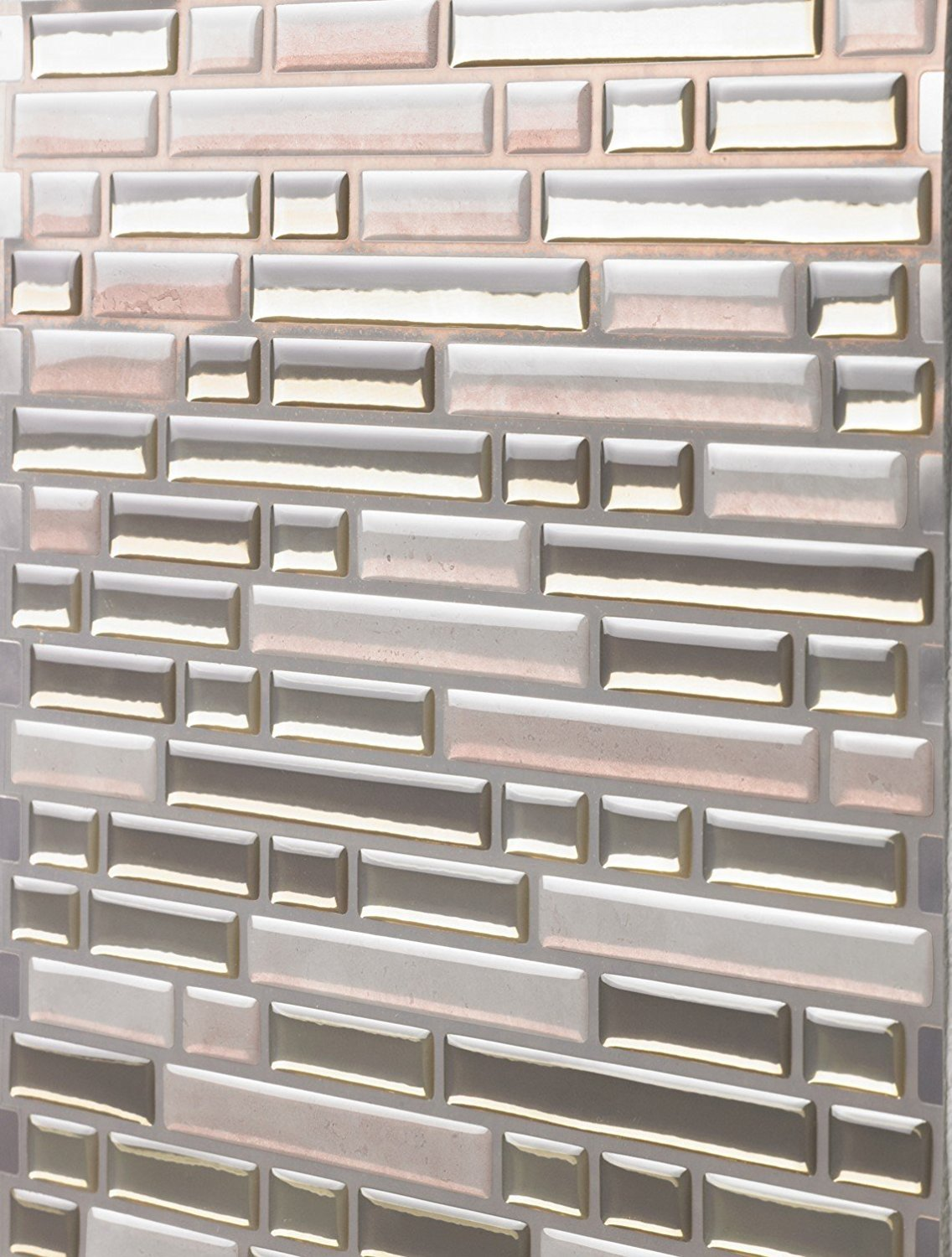 Tic Tac Tiles Anti-Mold Peel and Stick Wall Tile in Como Sand AH-BRS02 10 Tiles