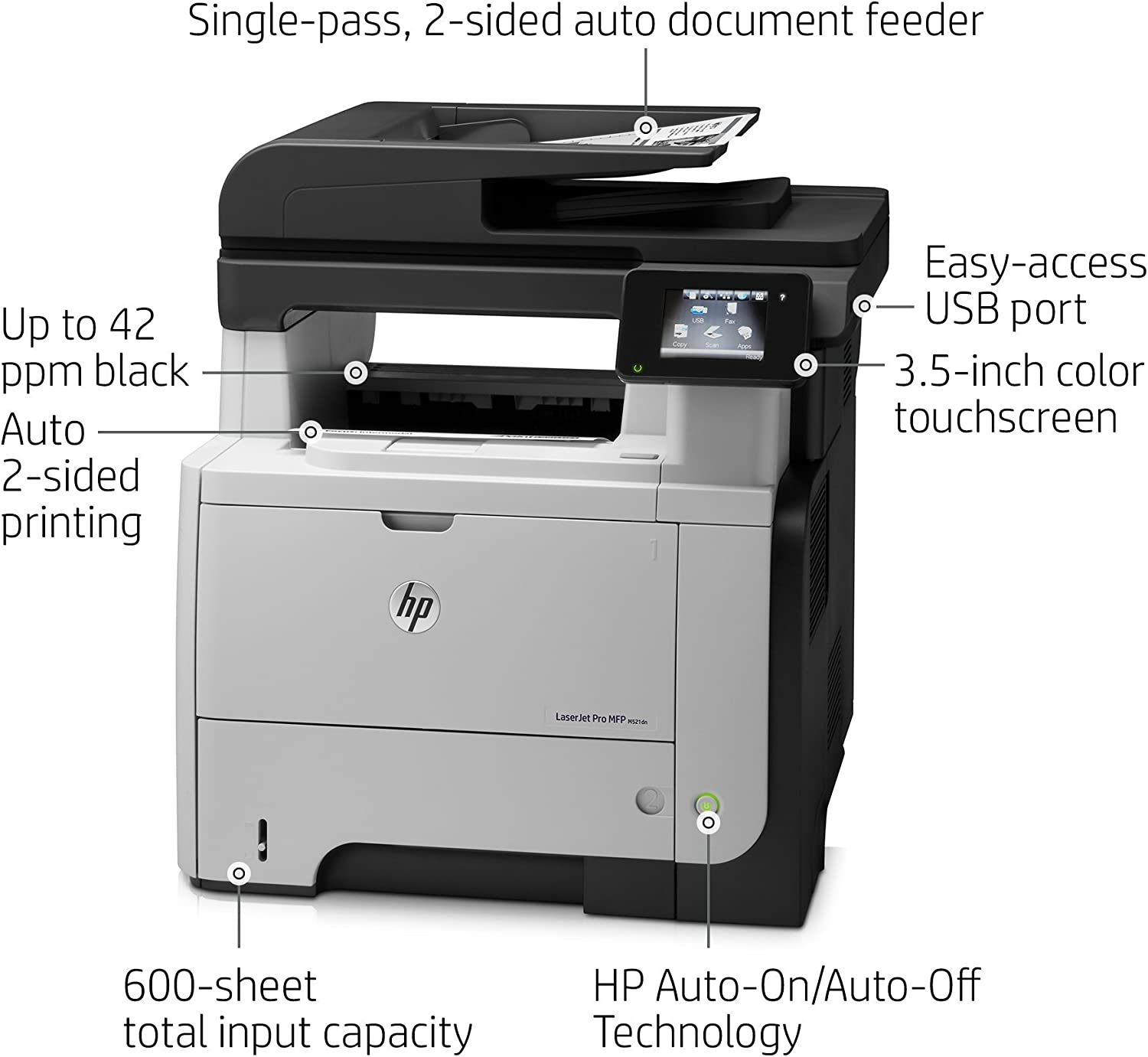 HP Laserjet Pro M521dn All-in-One Laser Printer, Amazon Dash Replenishment Ready (A8P79A)