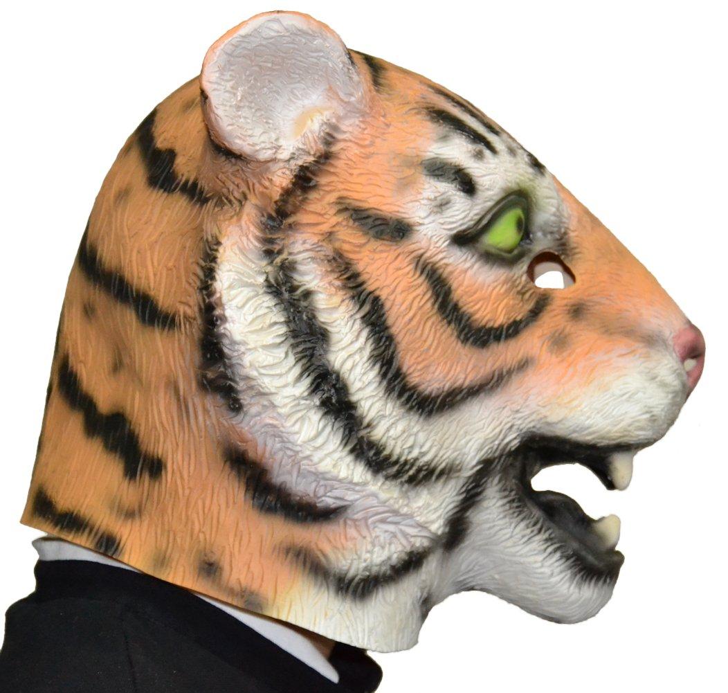 Queenshiny máscara de látex animales (Tigre): Amazon.es: Juguetes y juegos