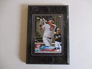 KYLE SCHWARBER CHICAGO CUBS 2018 MLB TOPPS HOME RUN DERBY UPDATE SERIES PLAYER CARD MOUNTED ON A 4