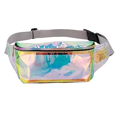 bde302e685 Liliam Women Holographic Fanny Pack Waist Belt Bum Chest Sports Beach  Festival Bag delicate