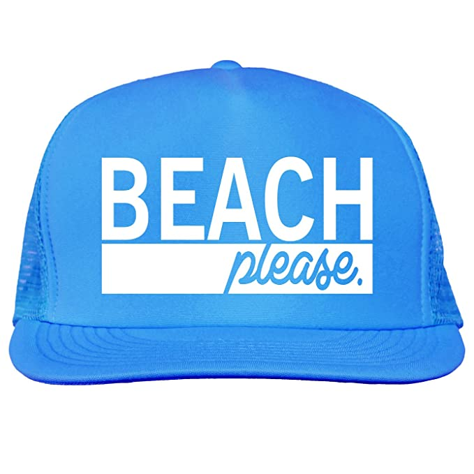 b989ab97edb38 Bright neon truckers mesh snap back hat in Neon Blue - One Size at Amazon  Men s Clothing store