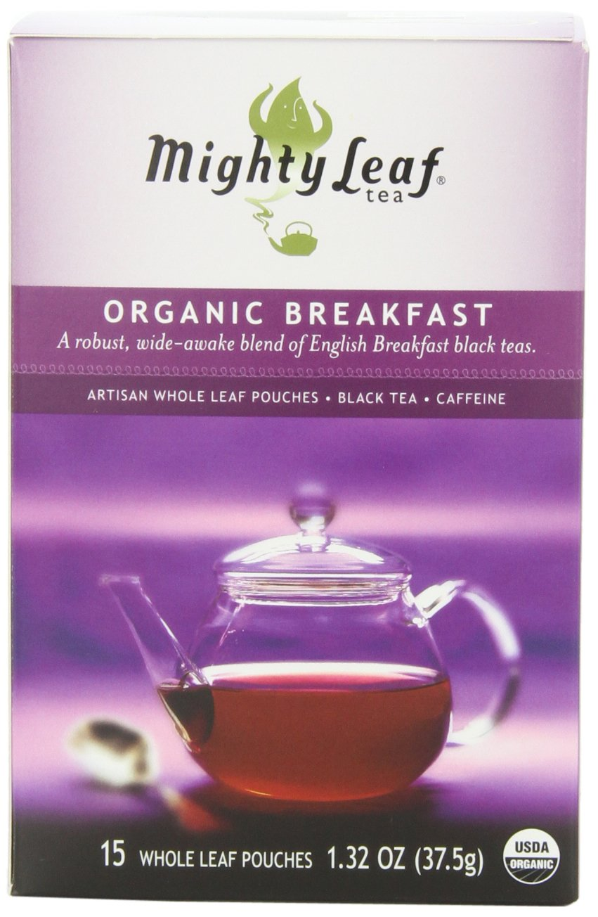 Mighty Leaf Black Tea, Organic Breakfast, 15 Pouches (Pack of 3) by Mighty Leaf Tea