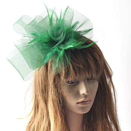 Amazon.com  Lh Yu Fascinator Feather Fascinators for Women Pillbox Hat for Wedding  Party Derby Royal Banquet 5c36910d25dc