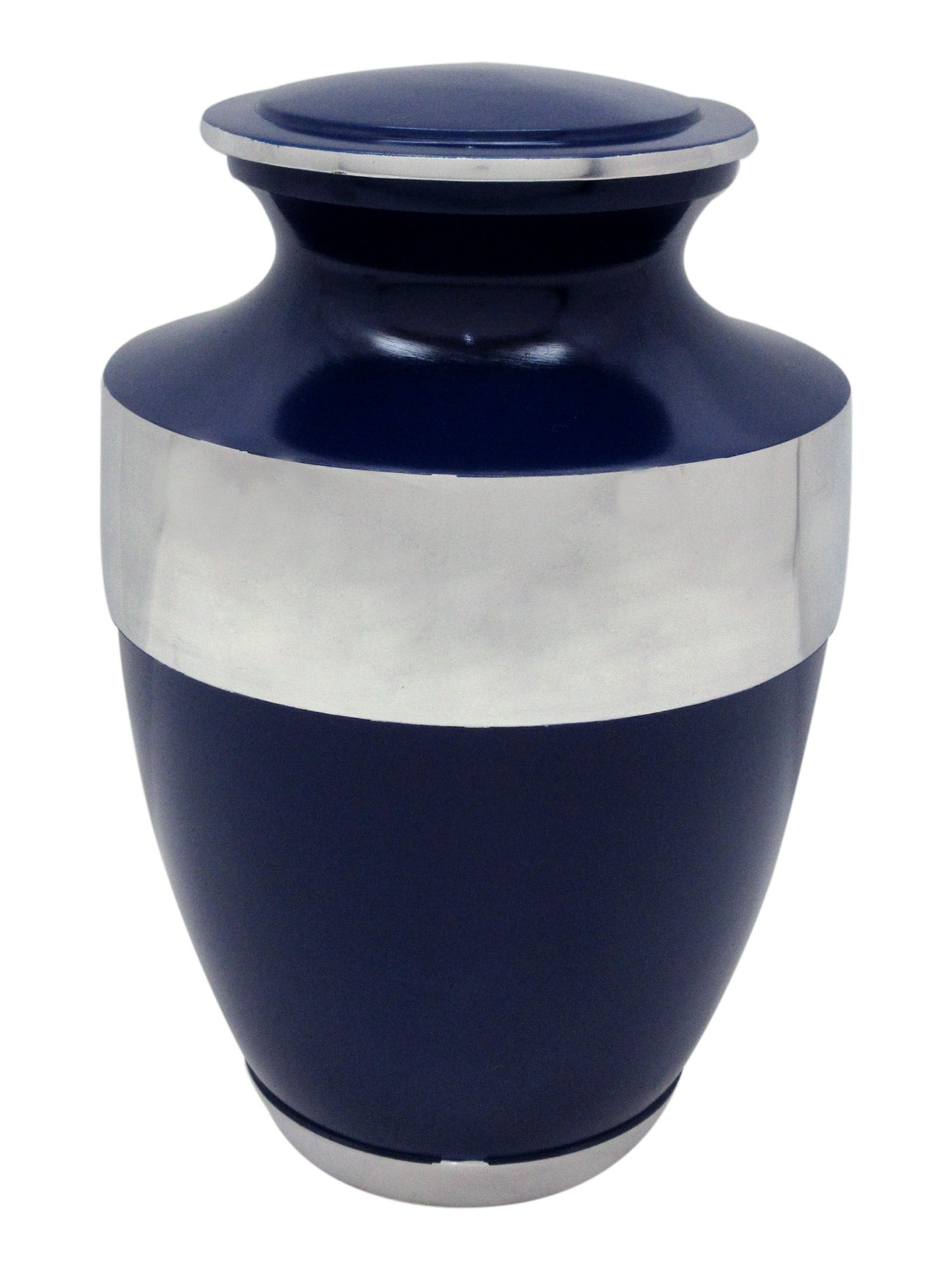 Urns for Human Ashes, Customized Blue Cremation Urn, Memorial Adult Human Urn with Velvet Bag and Personalization
