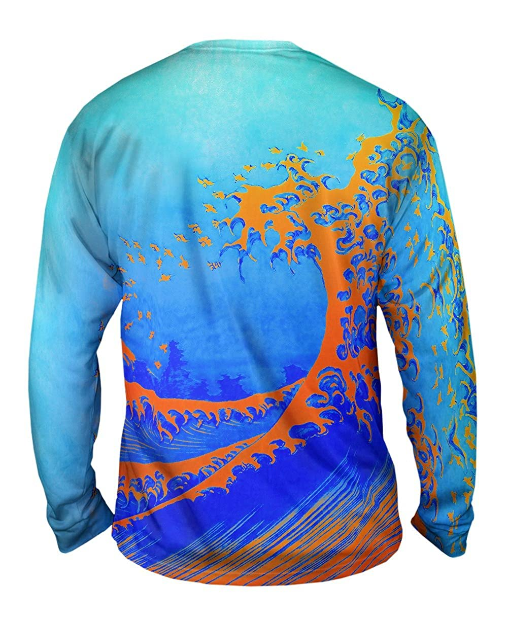 Yizzam The Great Wave Or Mens Long Sleeve 2235 Pop Art Hokusai