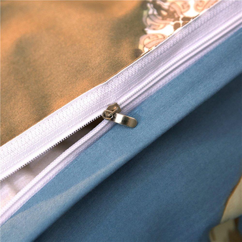 Morbuy Housse de Couette 3PC Mode Classique Fleurs 200 x 200 cm Confortable 100/% Polyester Microfibre et Taie doreiller Ensemble de literie Chambre /à Coucher Canap/é-lit Coque Bleu