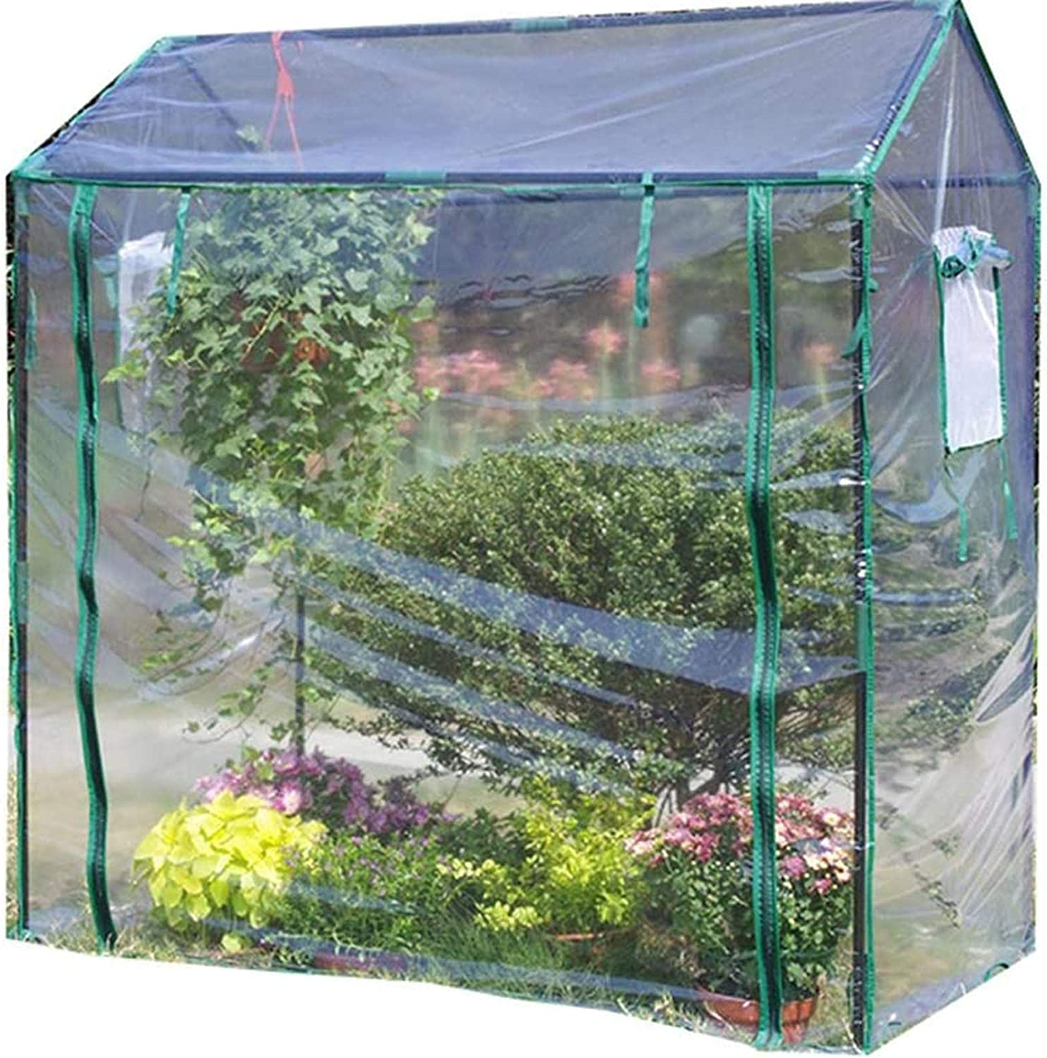 biliten Mini Walk-in Greenhouse Indoor Outdoor - Portable Plant Gardening Greenhouse (49.61L x 33.86W x 59.06H Inches), Grow Plant Herbs Flowers Hot House, Waterproof UV Protected Mini Greenhouse