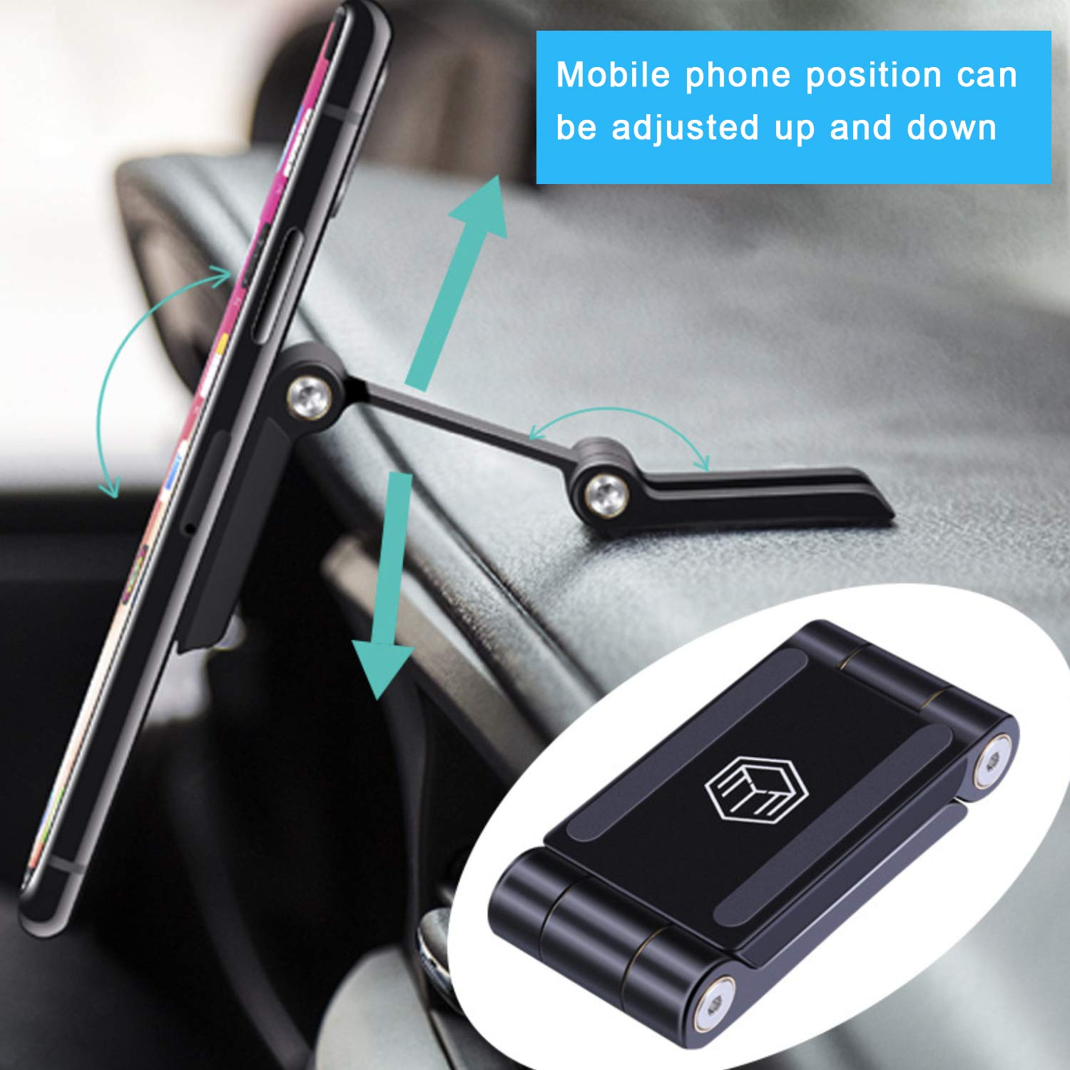Sony Samsung Galaxy Motorola HTC ect LG Magnetic Phone Car Mount BlackBerry Qidoe Magnetic Car Phone Mount Holder Stick On Car with 3M Strong Adhesive Nice Car Kit for iPhone Nokia